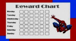Spiderman Reward Chart Spiderman Potty Training Chart