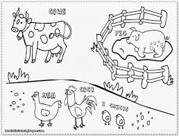 Farm Animal Coloring Pages Free Printable Educations For Kids