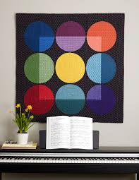 Quilts Made Modern: The Modern Quilt Studio, Bill Kerr and Weeks ... & black quilt with circles in nine colors Adamdwight.com