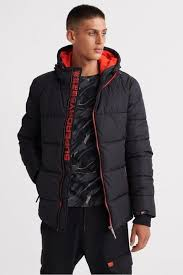 Superdry Uk Size Chart Women S Superdry Sports Puffer Jacket Jet Black