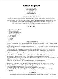 Performance Resume Template - Gfyork.com