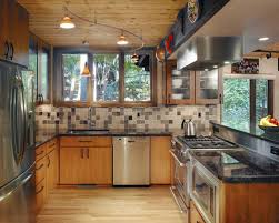 pictures of kitchens with track lighting. example of an eclectic kitchen design in dc metro with stainless steel appliances pictures kitchens track lighting houzz