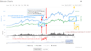 Bitcoin Gold Usd Chart 12 Days Before Hard Fork Btc Cash Vs Gold Chart Comparison