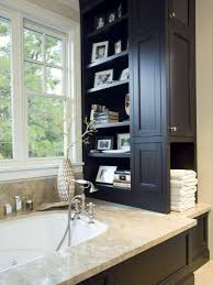 Towel Storage Cabinet Bathroom Storage Ideas With Baskets Brown Stained Mahogany Wood