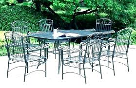 white iron outdoor furniture. Plain Outdoor White Patio Table Wrought Iron Furniture  Wrought Iron Patio Furniture  Cushions Vintage On Outdoor