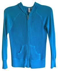 Caslon Blue Bright Waffle Knit Zip Up Jacket Size Petite 4 S 57 Off Retail