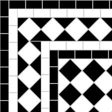 black and white diamond tile floor. Black And White Victorian Tile Design Showing A \u0026nbsp;diamond Border \u0026nbsp;with Diamond Floor