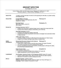 Resume Format For Freshers Civil Engineers Menu And Resume