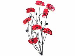 sk style new contemporary metal wall art decor sculpture red poppy bunch on red poppy metal wall art with sk style new contemporary metal wall art decor sculpture red