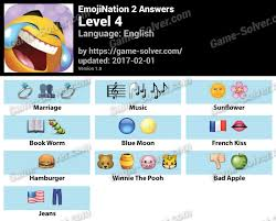 EmojiNation 2 Level 4 Answers - Game Solver