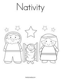 Small Picture Christmas Nativity Coloring Pages Christmas nativity Sunday