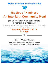 Blue Guru Inspired By Society Designed For It Ripples Of Kindness An Interfaith Community Meal World