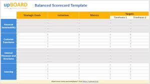 Scorecard Template Balanced Scorecard Online Tools Templates Software
