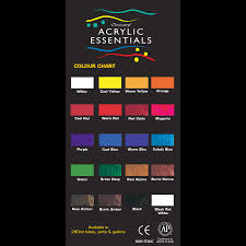 Chromacryl Acrylic Essentials Color Swatches Color