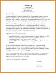 9 Operation Manager Cover Letter Offecial Letter