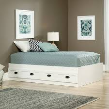 Twin Platform Bed White | : Bed: Effective for Small Space