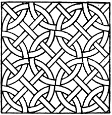 Roman Mosaic Circle Pattern Pattern Coloring