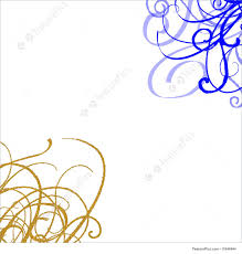 Swirls Templates Templates A White Background With Bold Blue And Gold Swirls In Opposite Corners