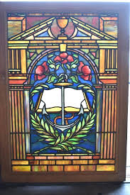 reclaimed stained glass antique window anchor books flowers columns doors birmingham