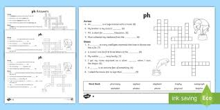 Phonics is a method of teaching kids to learn to read by helping them to match the sounds of letters, and groups of letters, to distinguish. Ph Sound Differentiated Crossword Teacher Made