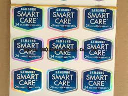 <b>Wholesale</b>-<b>100pcs lot Original</b> Smart Care 24 Month Warranty Label ...