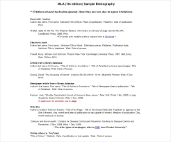 26 Different Bibliography Format Templates Free Pdf Doc Format