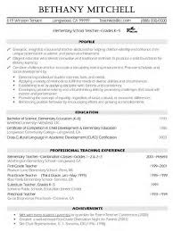 Elementary Teacher Resume Examples More