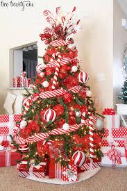 2016 Red White Christmas Tree