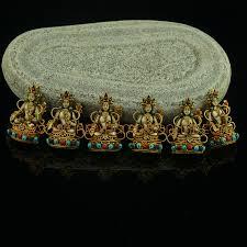 6 pieces of white tara silver ghau pendant