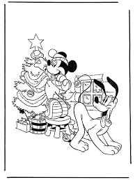 Pluto And Mickey With Christmastree Mickey Mouse