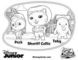 Small Picture Howdy Partner Disney Sheriff Callie Coloring Pages Mommy Mafia