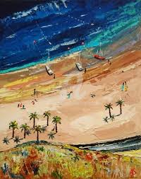 sea beach original palette knife oil painting fr painting 50x40x0 2