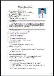Sample Resume Word Format Sample Format Of Resume Socialsci Sample