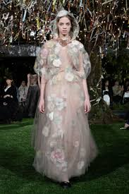 Elle Couture Designs See Diors New Cherry Blossom Inspired Haute Couture Designs
