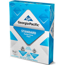 Georgia Pacific Standard Multipurpose Paper 8 5 X 11 20lb 92 Transparent Colored Paper Walmartl L