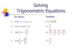 13 solving trigonometric equations