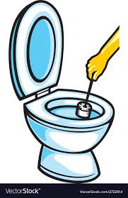 clean bathroom clipart. Wonderful Clipart Cleaning A Toilet Bowl With Brush Vector Image In Clean Bathroom Clipart