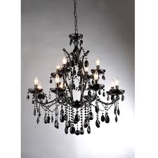 warehouse of tiffany russhelle 12 light black metal chandelier
