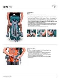 Sizing Fit Osprey Aura Ag 50 User Manual Page 6 10