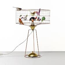 bird cage lighting. Copper Bird Cage Table Lamp Lighting O