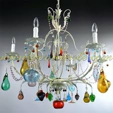 multi coloured glass chandelier free multi colored crystal hand blown glass