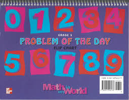 How Big Is My Problem Chart Grade 5 Math Problem Of The Day Flip Chart Mcgraw Hill