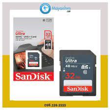 Thẻ nhớ SDHC SanDisk Ultra 32GB (48MB/s) - Hàng chính hãng - Thẻ nhớ máy  ảnh