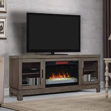 berkeley infrared electric fireplace tv stand w glass in spanish gray 26mm6022 i614