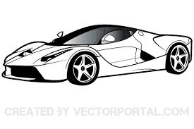 car clipart black and white. Unique White Ferrari Clipart Free Car Vector Vector Art Graphics Cop For Black And White