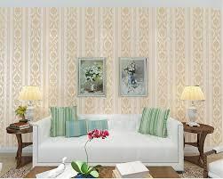 Us 3093 39 Offbeibehang 2017 Europäischen Stil Feindruck Vlies Tapete Schlafzimmer Wohnzimmer Hotel Einfachen Blauen Streifen 3d Wallpaper In
