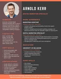 Digital Resume Templates Digital Marketing Specialist Resume Example