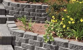 Small Picture A Pavestone Anchor Windsor Stone Retaining Wall with paver steps