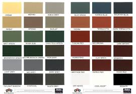 Roof One Corporation Roofing Colour Chart Lentine Marine