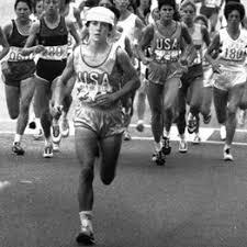 Olympics – 1984 – L A Games – Womens Marathon – USA Joan Benoit + NOR Grete  Waitz – 1st 5 Miles | ImaSportsphile